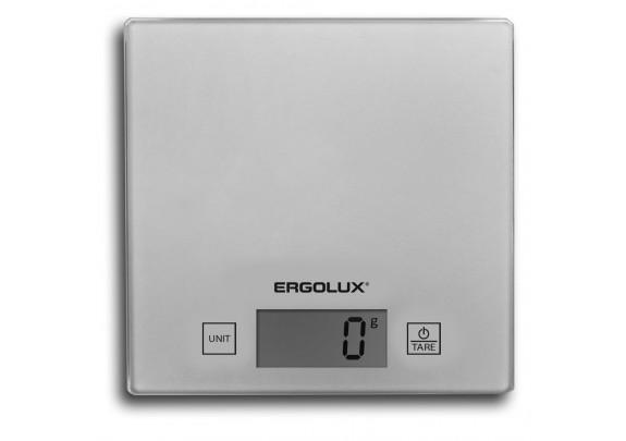 Весы кухонные ERGOLUX ELX-SK01-C03 сер/мет 150*150