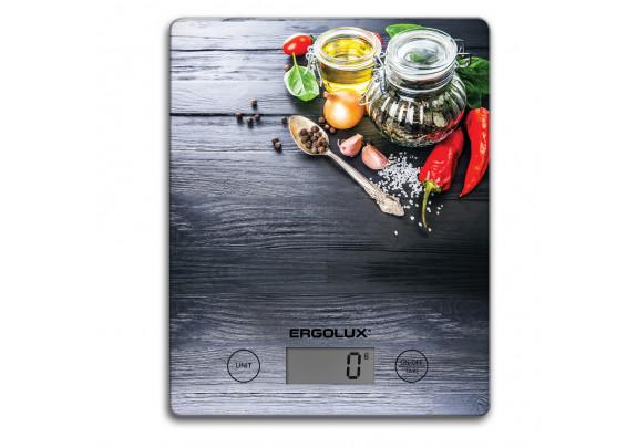 Весы кухонные ERGOLUX ELX-SK02-C02 черные 195*142