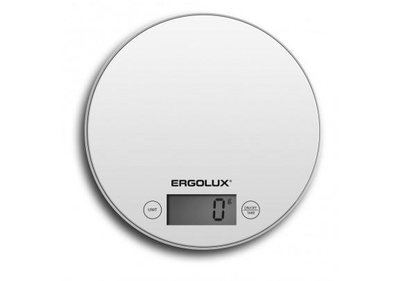 Весы кухонные ERGOLUX ELX-SK03-C01 бел 185мм кругл