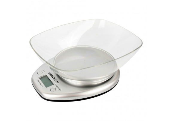 Весы кухонные ERGOLUX ELX-SK04-C03 серые съем/чаша