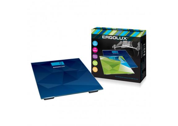 Весы напольные ERGOLUX ELX-SB03-C45 син/180кг/LED