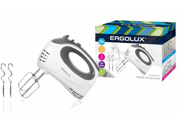 Миксер ERGOLUX ELX-EM02-C31 200Вт бело-серый