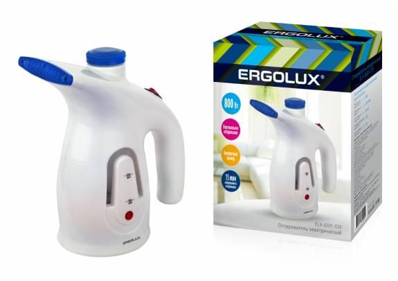 Отпариватель ERGOLUX ELX-GS01-C35 800Вт бело-синий