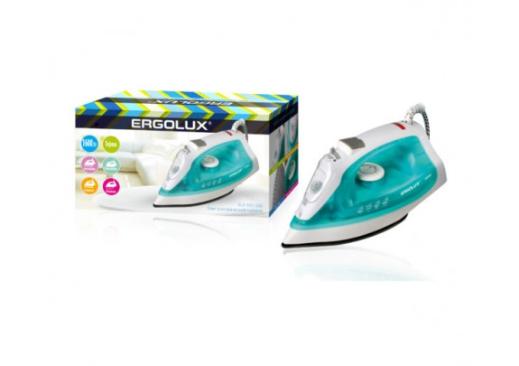 Утюг ERGOLUX ELX-SI01-C40 аквамарин тефл 1600W
