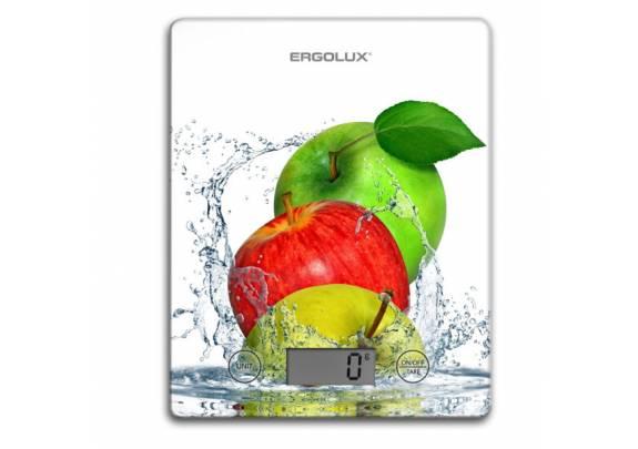 Весы кухонные ERGOLUX ELX-SK02-C01 бел яблоки