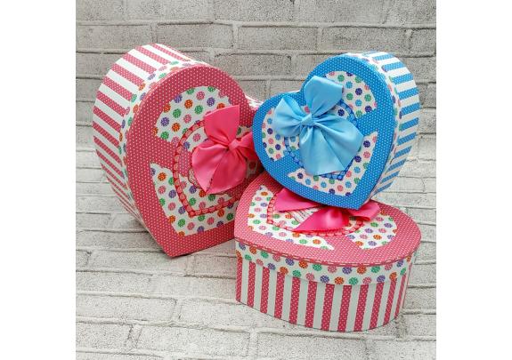Коробка 0211-4a  Сердце  23,5*9,5
