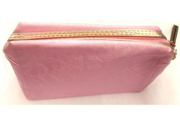 Косметичка SUM466 Розовая/с ручкой/22,5*14см