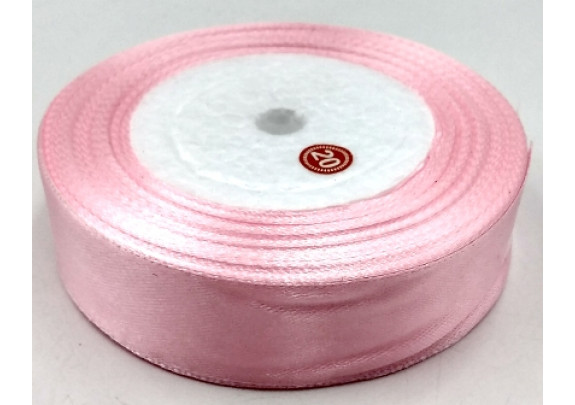 Лента 04 атлас/ш=2,5см/д=27,5м/розовая