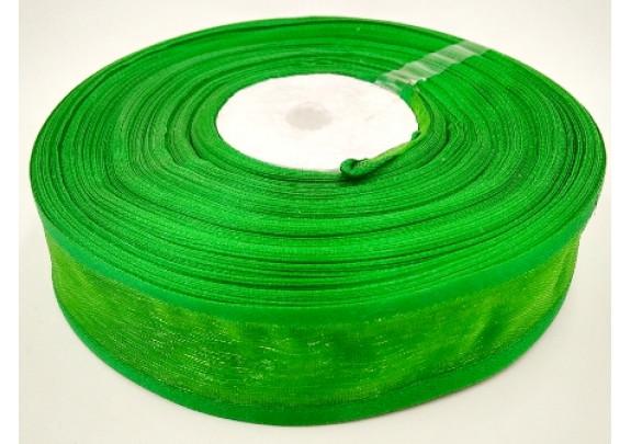 Лента 1019 органза/ш=2,5см/д=27,5м/зеленая