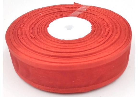 Лента 1026 органза/ш=2,5см/д=27,5м/красная