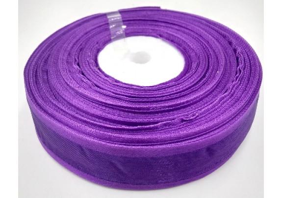 Лента 1035 органза/ш=2,5см/д=27,5м/фиолетовая
