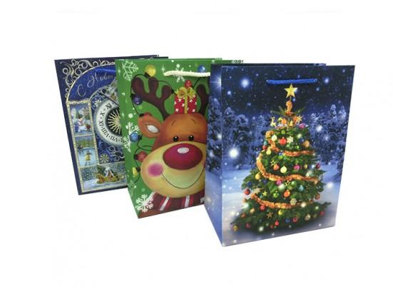 Пакет 10459-3 Новый год/бумага/23*18*10