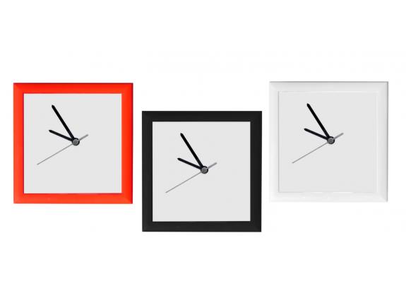 Часы полиграфическая вставка 20*20см/красн/бел/чер