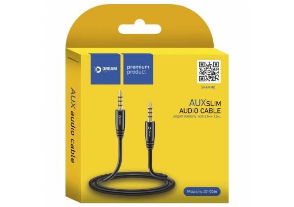 Аудио-кабель JACK  3,5мм DREAM JD0066/черный/1.5м