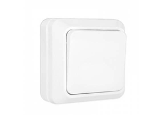 Выключатель 1-кл Олимп о/у 10А220В бел/евро/О0021