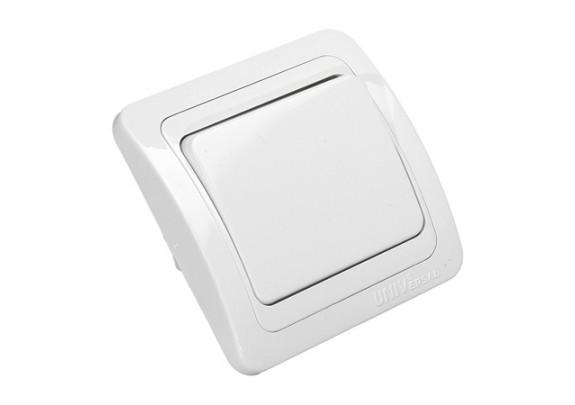 Выключатель 1-кл Валери с/у 10А220В бел/евро/B0021