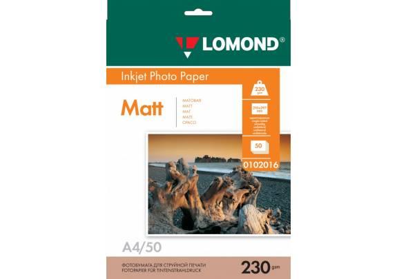 Lomond A4 230г/м2  50л матовая  0102016
