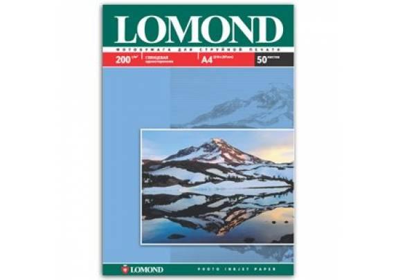 Lomond A4 200г/м2  50л глянцевая  0102020