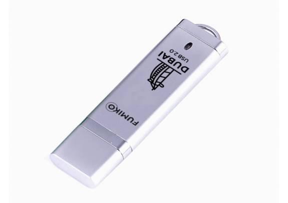 Флэш-драйв FUMIKO 16GB DUBAI   Silver