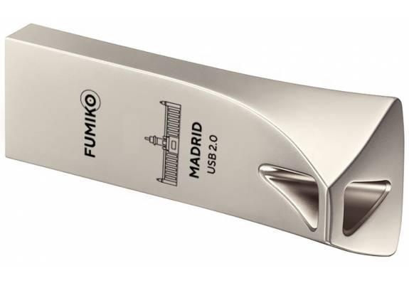 Флэш-драйв FUMIKO 128GB MADRID  Silver/ 3.0