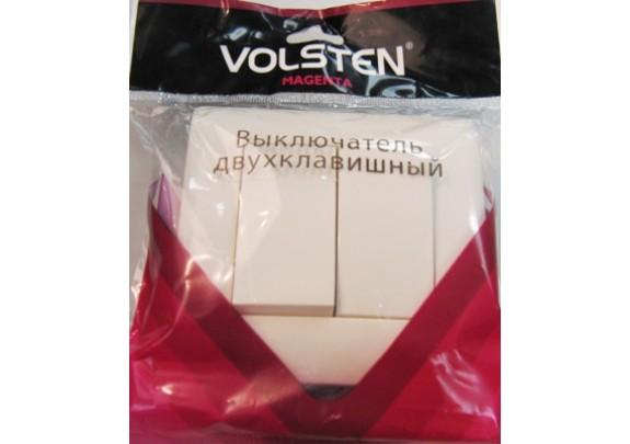 Выключатель 2-кл Magenta V01-11-V21-S бел.