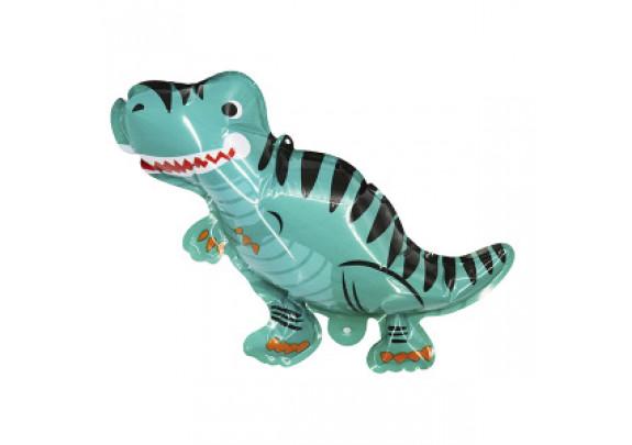 Шар-самодув Динозавр голубой 20см