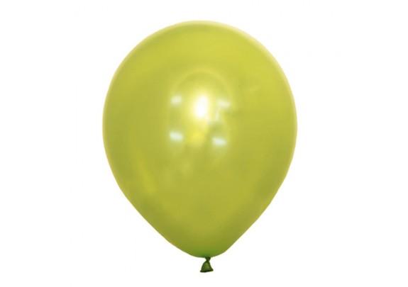 Шар 30см Металлик LIME GREEN/100 шт.