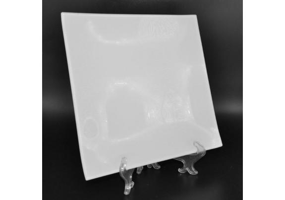 Тарелка 3D/стекло/подставка/20*20см/GHP-02