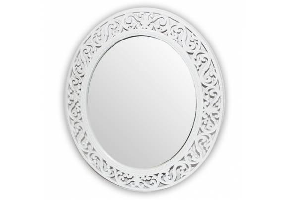 Зеркало Багет 54.5*47.5 Y3320-1W/ овал/пластик