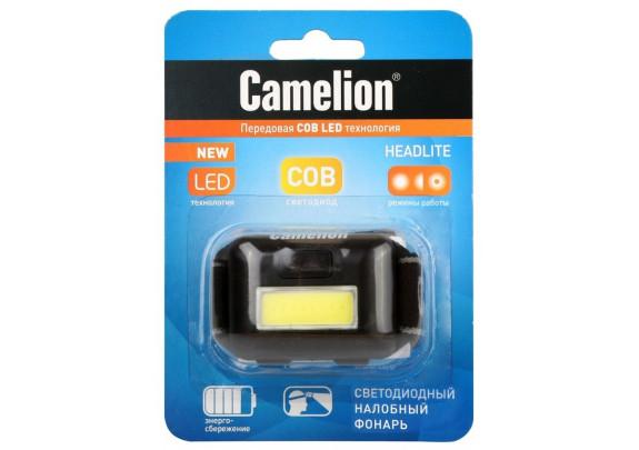 Фонарь CAMELION LED5355  COB LED/1Вт/3xAAA/налобый