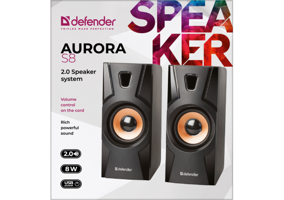 Акустическая система DEFENDER Aurora S8 2.0