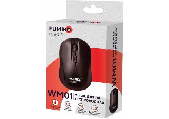 Мышь беспроводная FUMIKO WM01 черная
